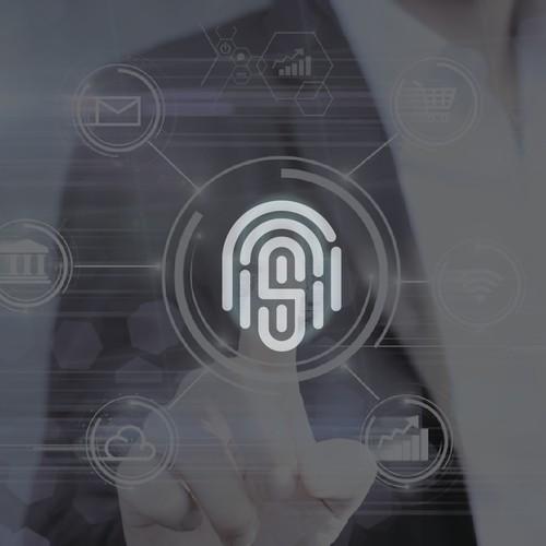S Letter Scan Security Logo design