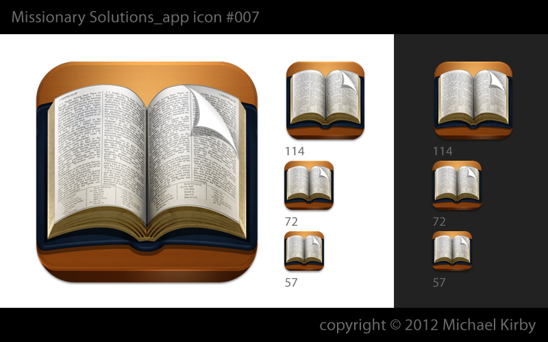 Create the next iPad app icon for Missionary Solutions