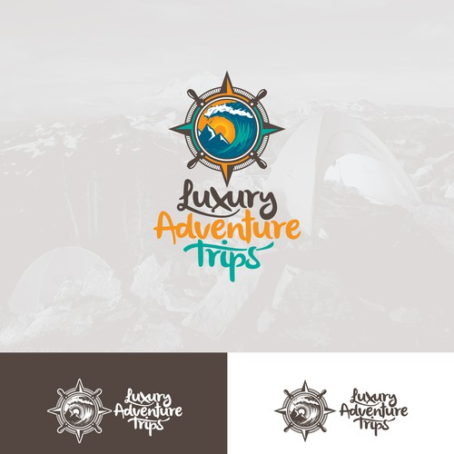 "Logo Concept for ""Luxury Adventure Trips"""