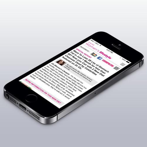 Create A Winning Mobile Landing Page To Promote Our Diet Product