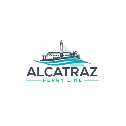 Logo design Ferry to Alcatraz Island