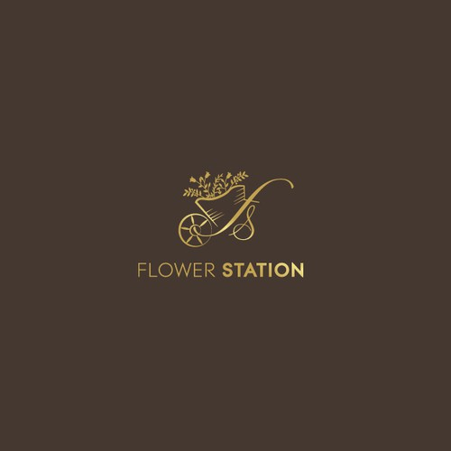 Logo design for flower station