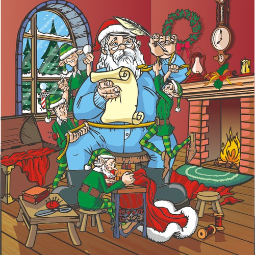 Colorful Santa Claus Collector Card Needed!