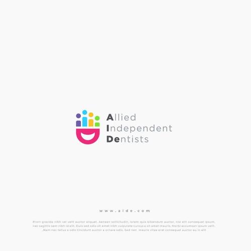Modern minimalist playful dentist community logo