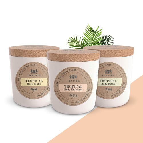 Luxury & Eco Label Design for Coconut based Body Care
