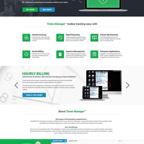 Time and Billing Software Website