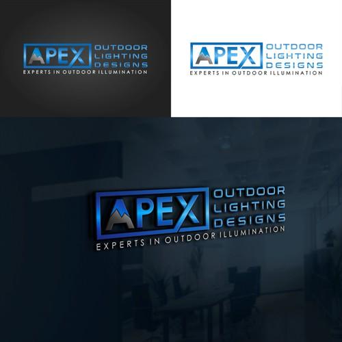 Logo concept for APEX Outdoor Lighting Designs