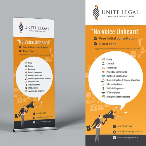 Design Banner for a Legal Practice