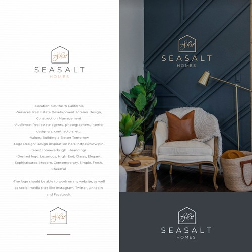 Logo concept for Seasalt Homes