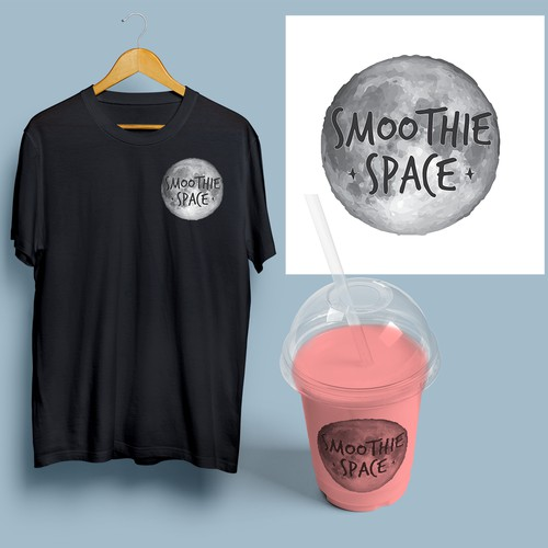 Logo concept for a shop that will sell space themed smoothies