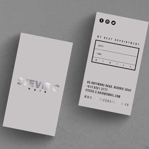 Business card design for hair salon