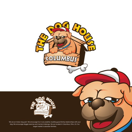 logo and character design for The Dog House Columbus