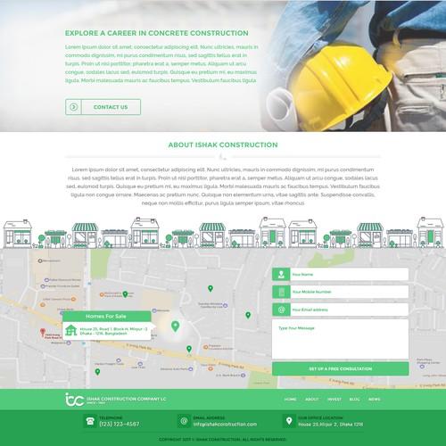 Landing Page Design : Construction Business