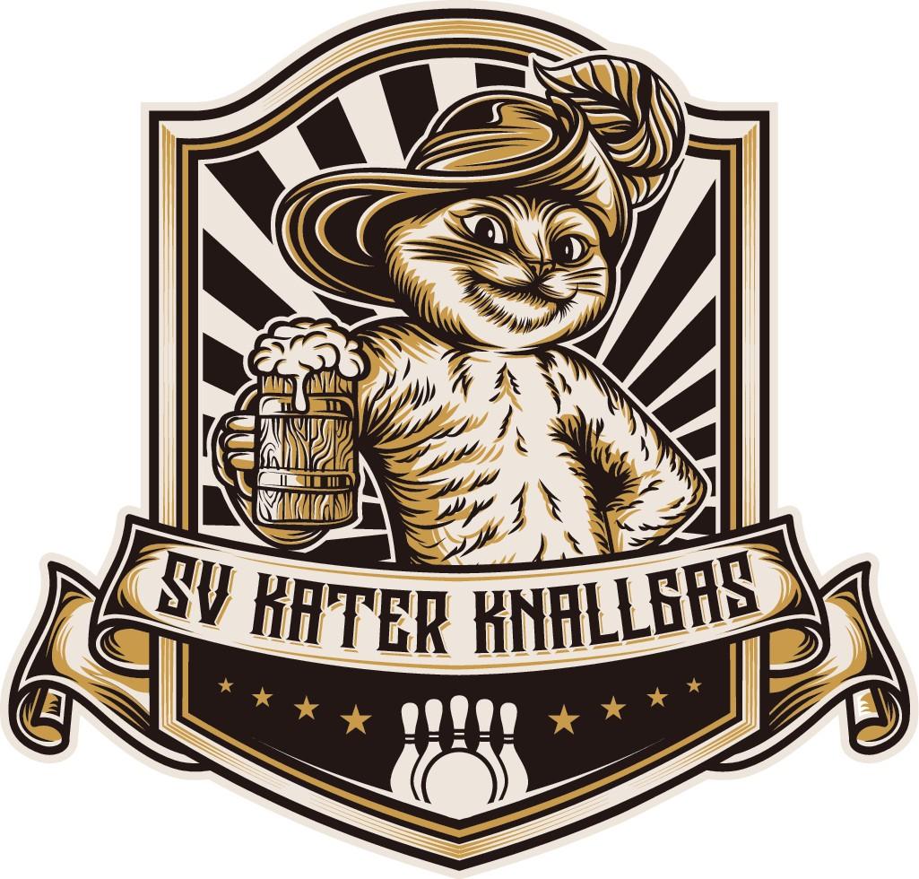 """Logo for beer and skittle club """"SV Kater Knallgas"""""""