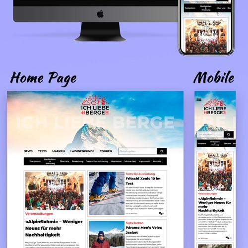 Design for a news site