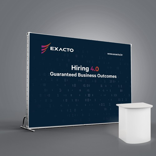 Tradeshow booth backdrop for exactor.hr