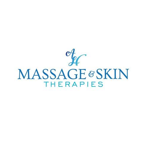 Logo concept for massage & skin therapist