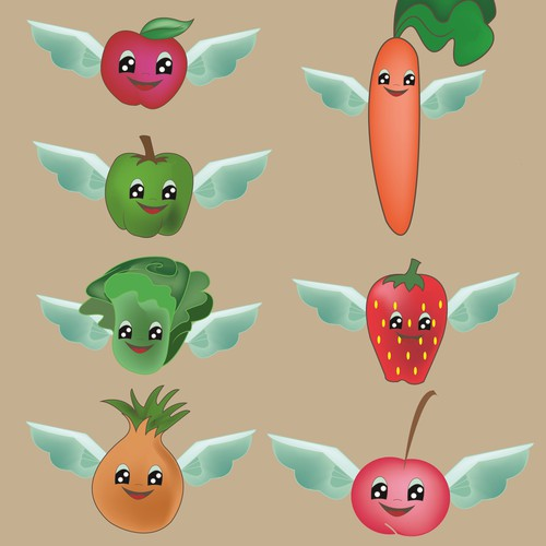 Design food with angel wings for decoration.
