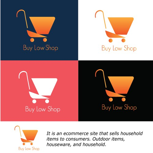 Shoping cart with color fresh orange