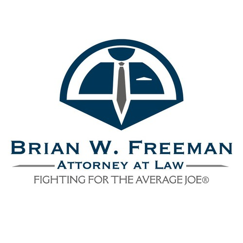 "Create a logo for attorney Brian W. Freeman - ""fighting for the average Joe®"""