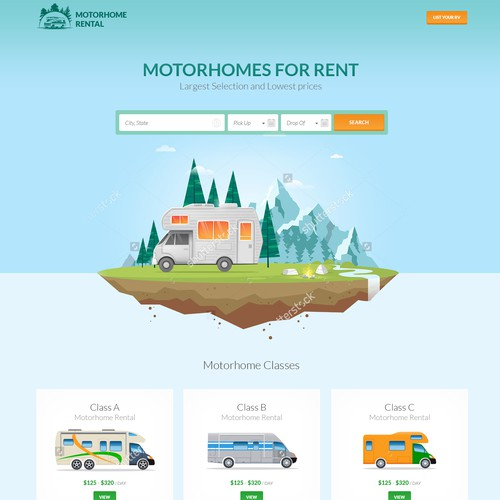 RV Rental website
