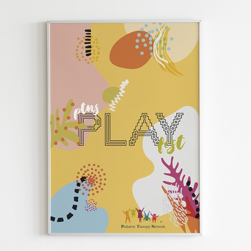 Playful but stylish poster event