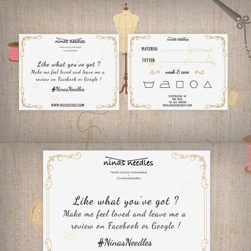 Postcard concept for design firm