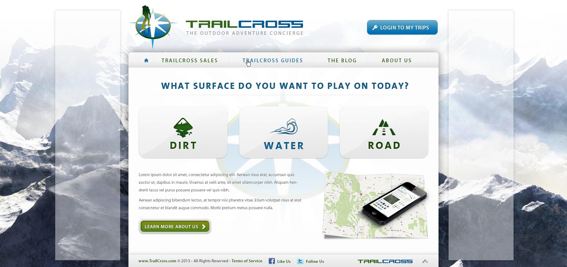 website or app design for TrailCross.com