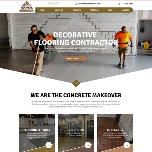Website design for decorative flooring contractor