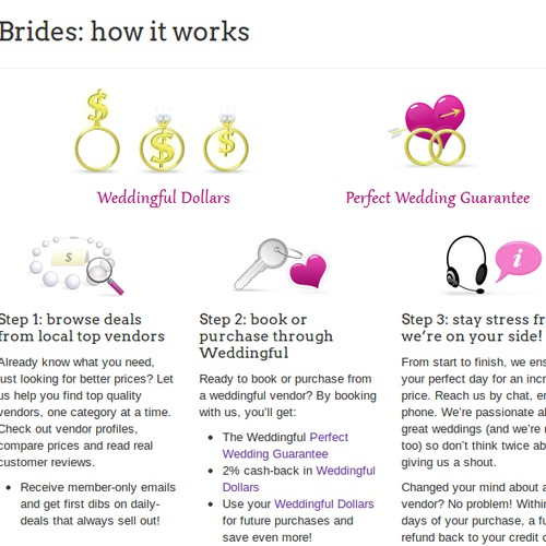 New icon illustrations needed for Weddingful