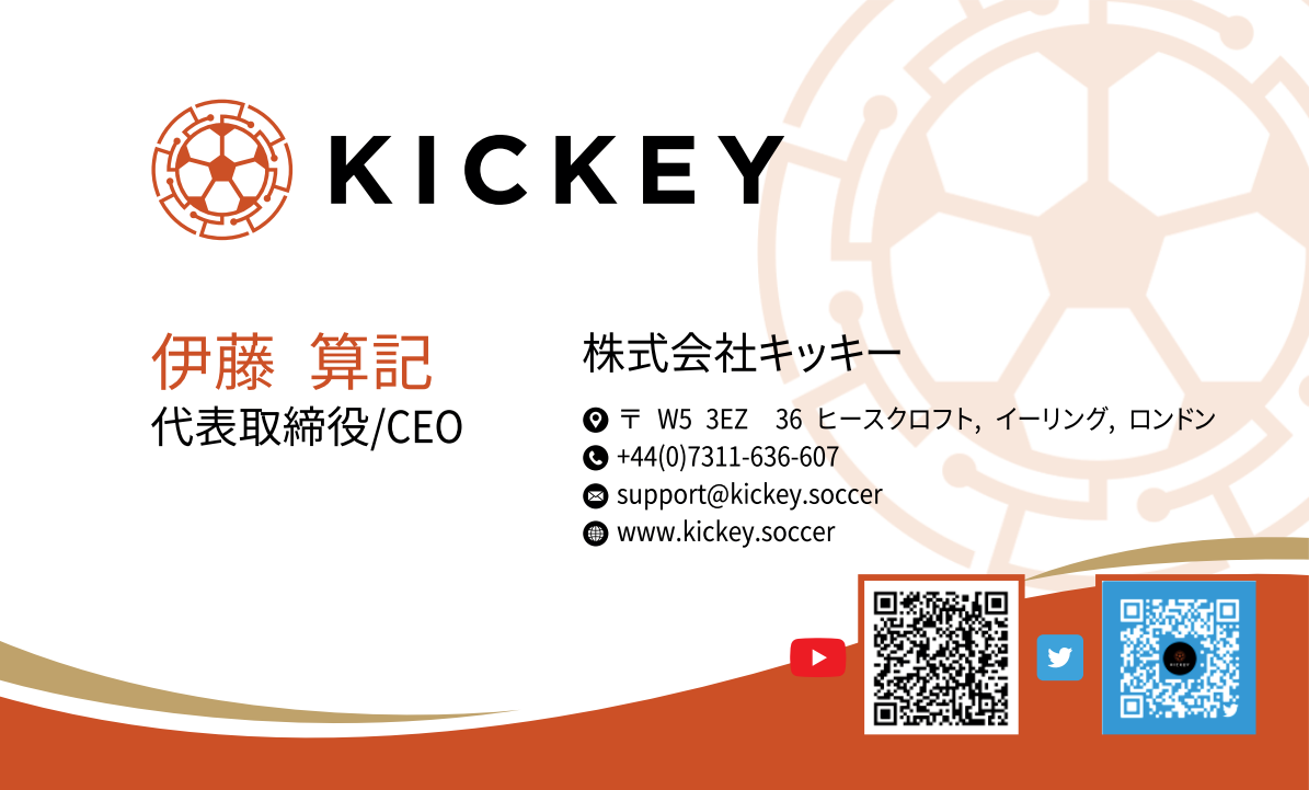 """Business card for """"Kickey"""""""