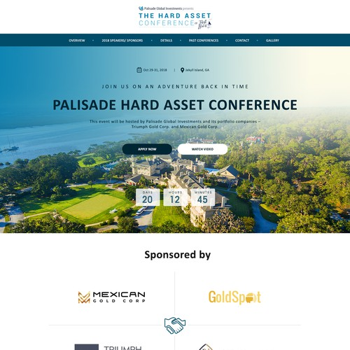 Conference Homepage Design
