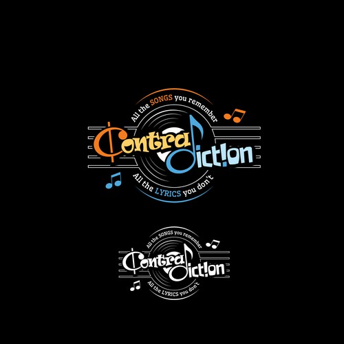 "Design a fun, sophisticated logo for ""Contra Diction"" - The Parody Concert"