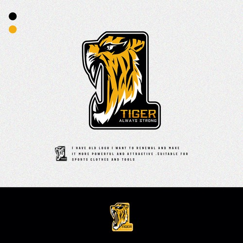 Sports Logo for Tiger Always Strong