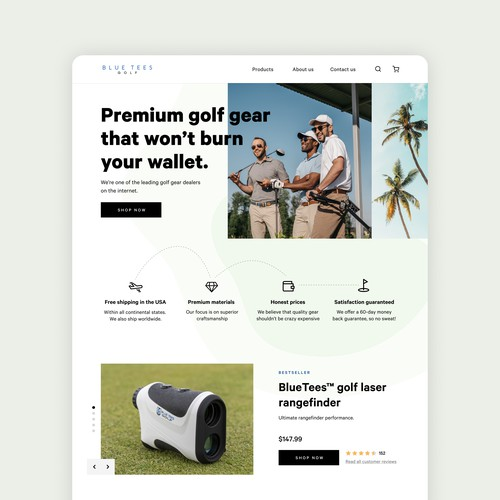 Golf Products Website