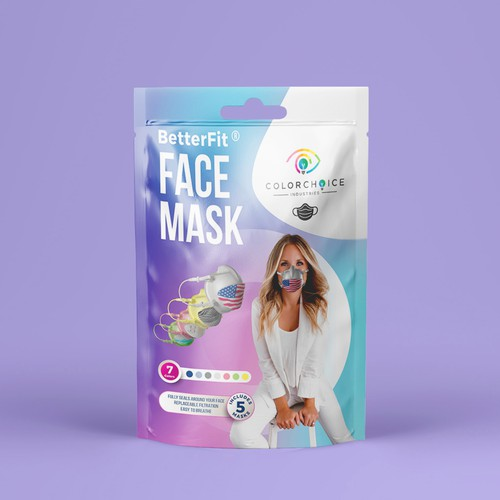 Face Mask packaging design for BetterFit