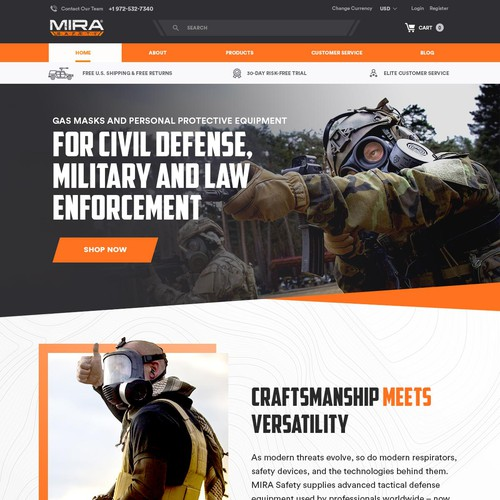 Military masks home page