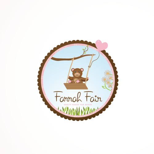 Help Farrah Fair sell their healthy baby & children's food with a fun logo
