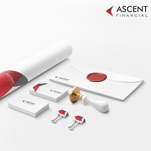 Design a new brand identity for Ascent Financial.