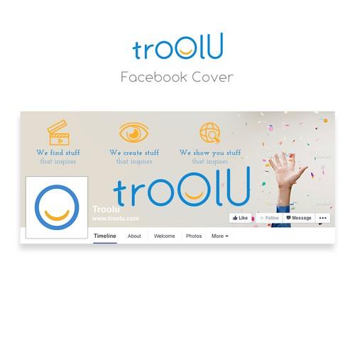 Facebook cover design for troolu