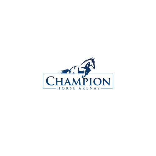 Bold logo concept for Champion Horse Arenas