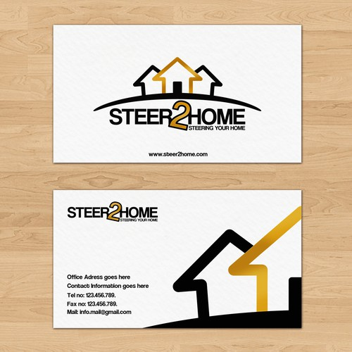 New logo and business card wanted for Steer 2 Home