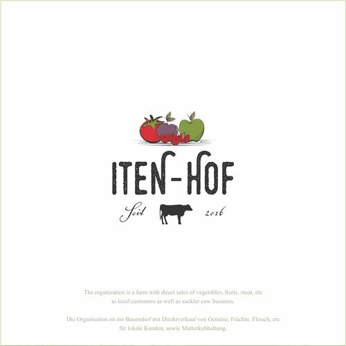 Classic logo for a traditional farm