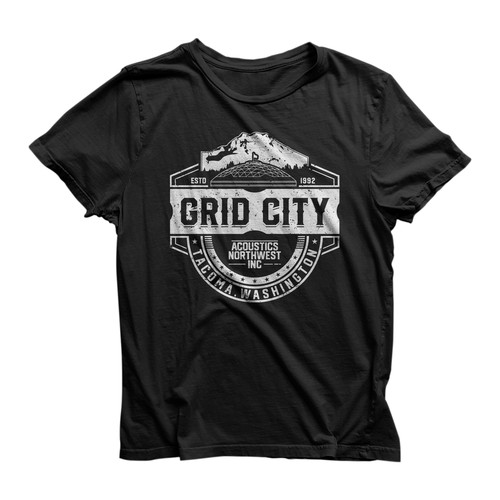 Grid City t-shirt design
