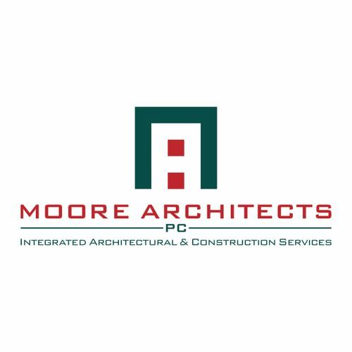 Moore Architects logo design