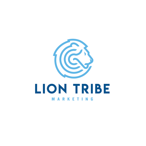 Lion Logo for marketing firm