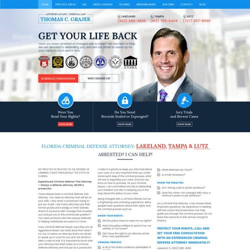 Florida Criminal Defense Lawyer Website