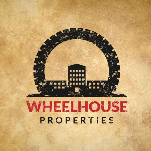 Rustic contemporary logo for a beautifully restored factory building