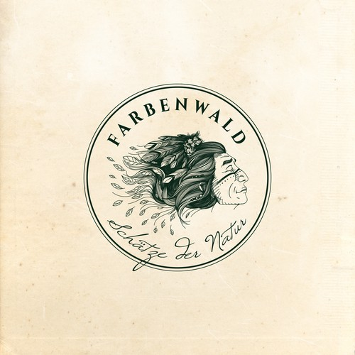 Shaman logo design for Farbenwald