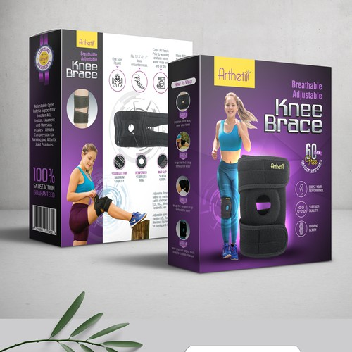 Design A Bold And Live Product Packaging Box For a comfortable Knee Support Brace